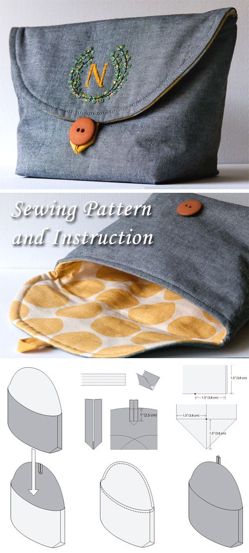 Clutch Sewing Pattern and Instruction