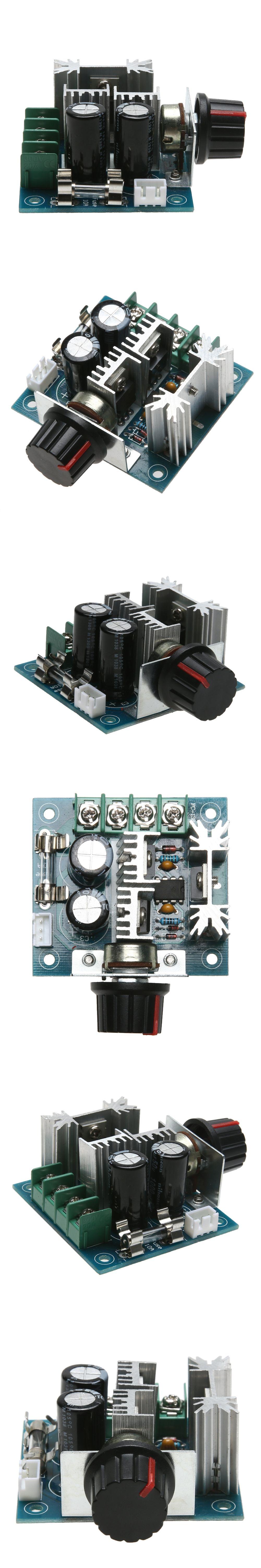 DC12V-40V DC Motor Speed Governor 13KHZ PWM Controller 10A B100K ...