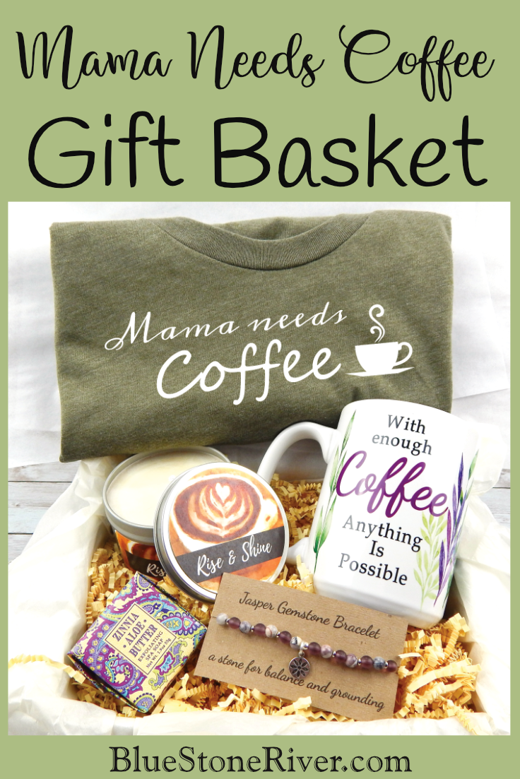 Mama Needs Coffee Gift Basket For Mom – Gift Basket for New Mom – Gifts for Overwhelmed Moms