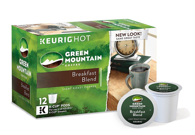 Green mountain coffee breakfast blend keurig kcups 72