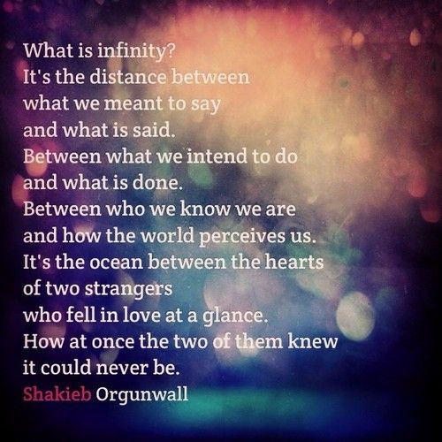 Infinity Love Quotes: Infinity Love Poem Poetry Writing