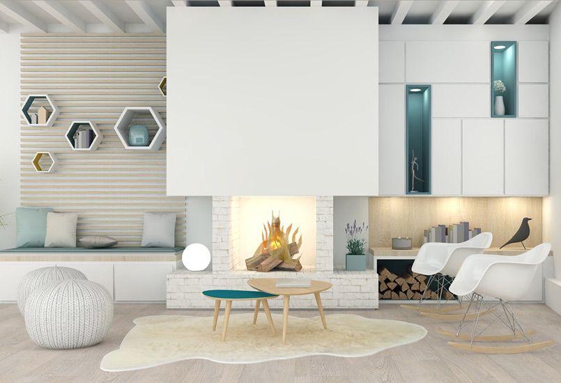 Un salon sur-mesure, meuble - salon - appartement - agence Marion ...