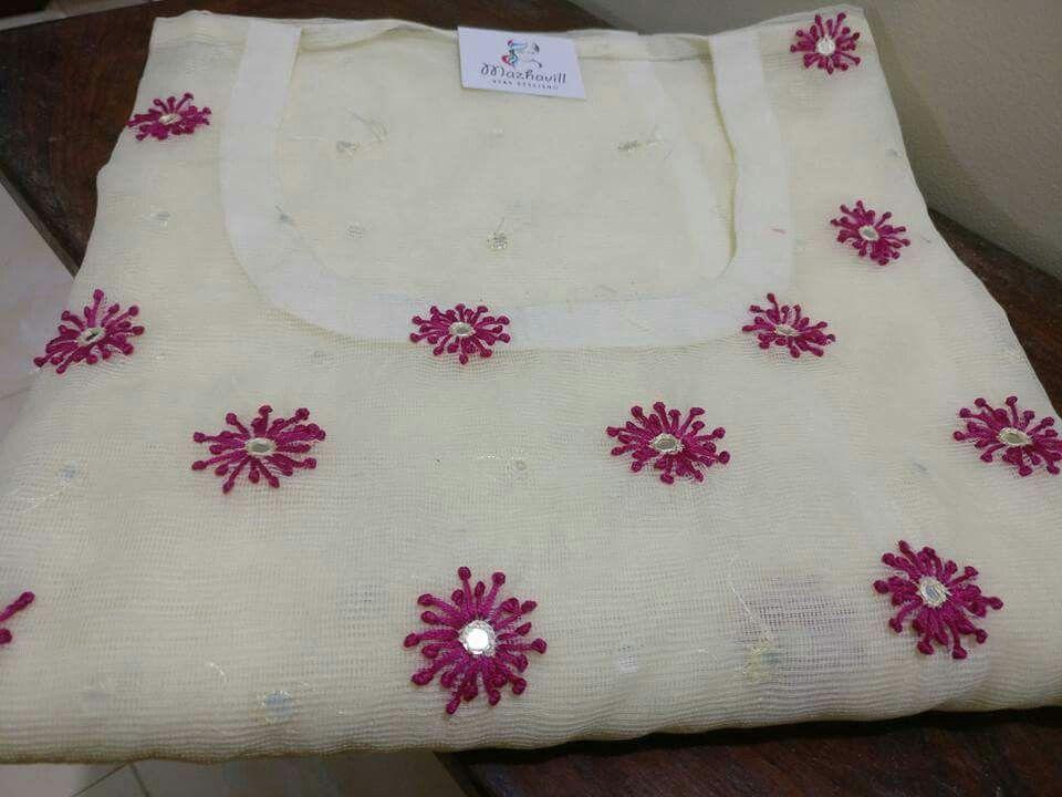 eafa270dba Motifs Embroidery On Kurtis, Tambour Embroidery, Embroidery Works, Hand  Embroidery Designs, Hand