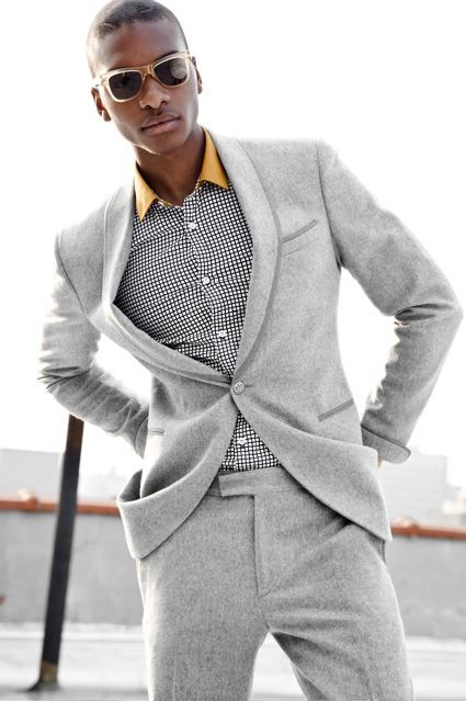 Models Of Color | Pass over | Pinterest | Gray, Man style and Fashion