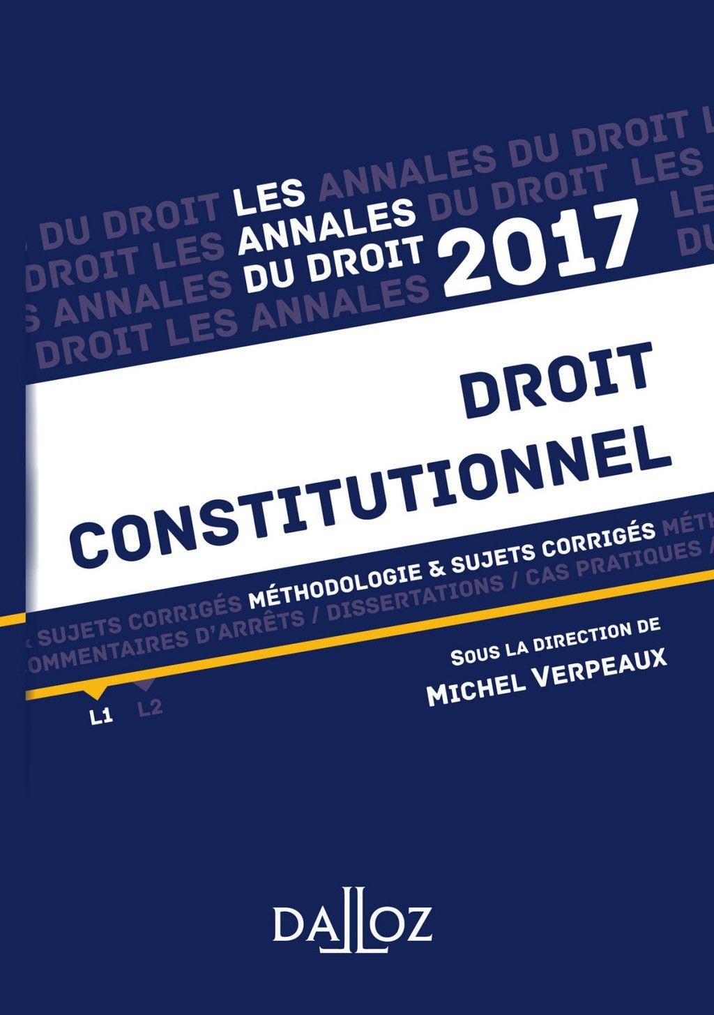 Annale Droit Constitutionnel 2017 Ebook Book Cover Boarding Pas Books Dissertation De Obligation L2