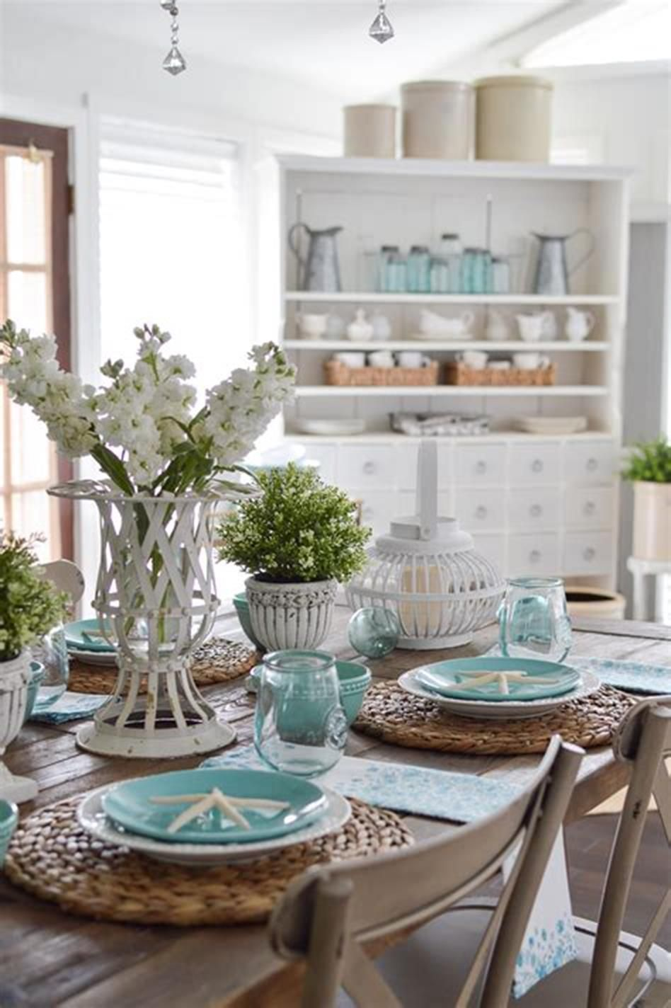 48 Best And Beautiful Farmhouse Table Centerpiece Ideas Craft Home Ideas Dining Room Table Centerpieces Dining Room Centerpiece Dining Table Centerpiece