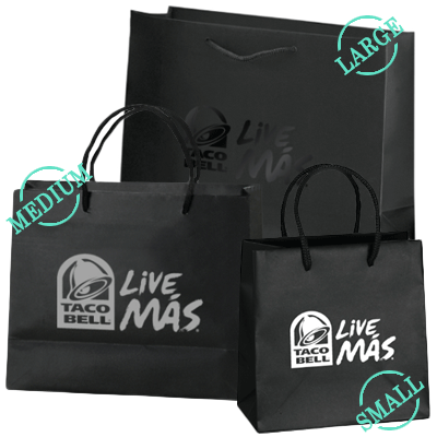 Taco Bell Taco Bell Coach Horse And Carriage Tote Paper Shopping Bag