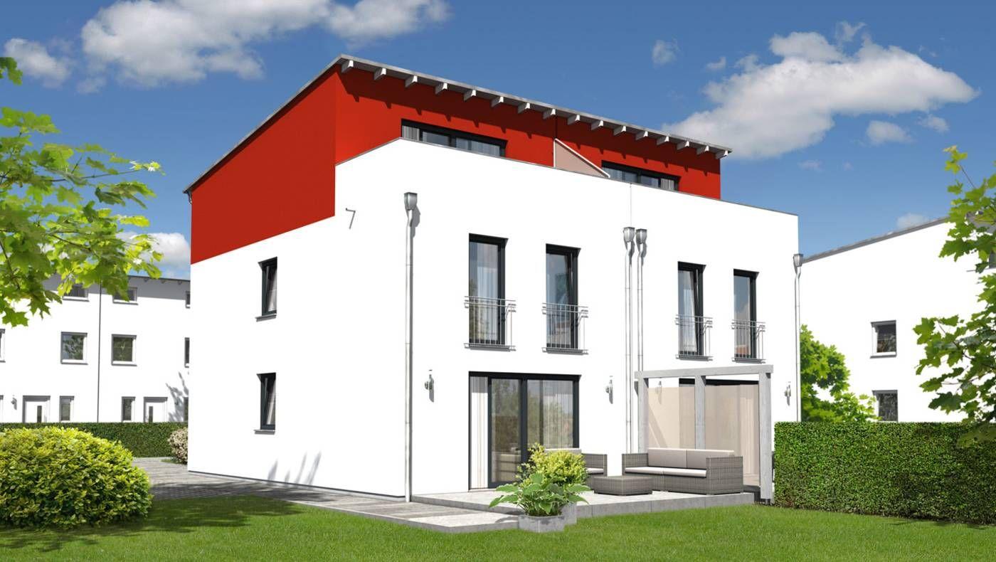 das doppelhaus mainz 128 modern mit dachterrasse grundriss erdgeschoss ihr town country. Black Bedroom Furniture Sets. Home Design Ideas