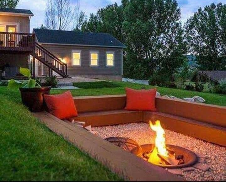 What About Water Drainage Deck With Fire Pit Outdoor