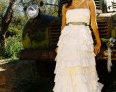 Recycled Fabric Bohemian Wedding Dress