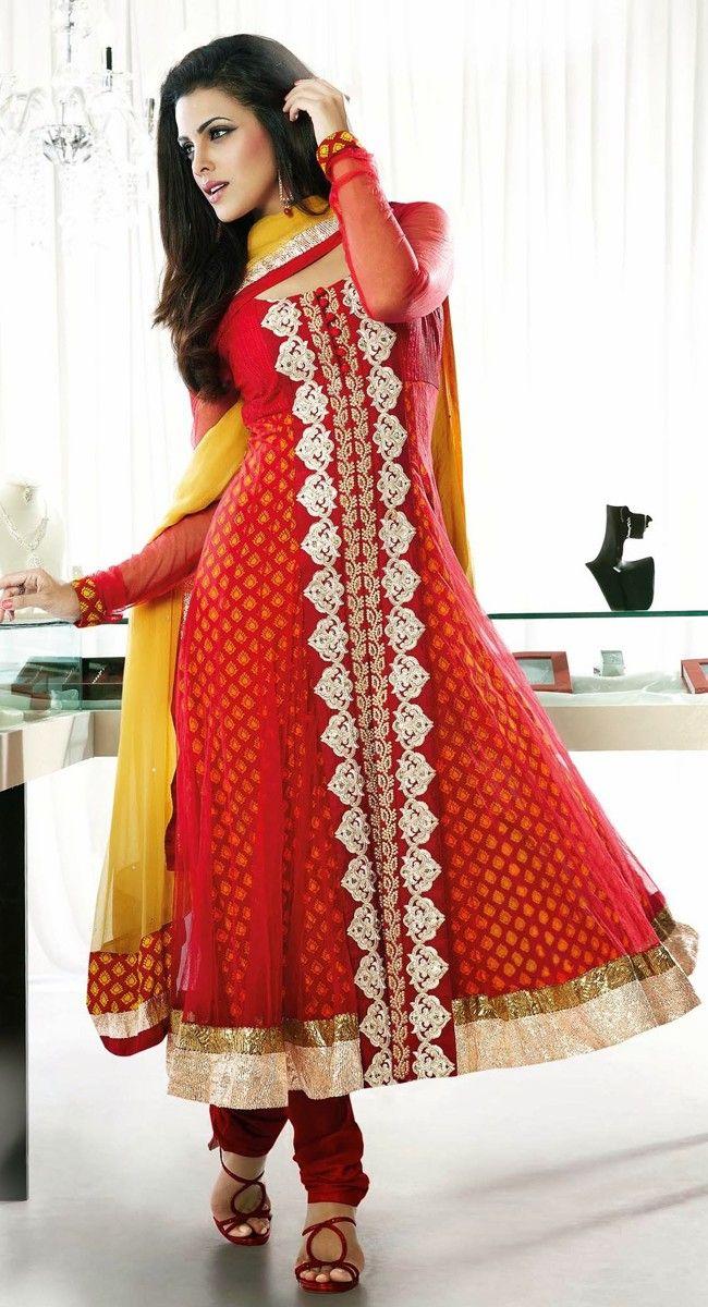 Aesthetic Crimson #Salwar Kameez