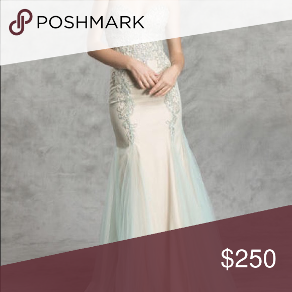Aspeed design L1415 XS PROM DRESS NEVER USED | Turquoise prom ...