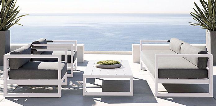 Aegean White Outdoor Furniture Cg Restoration Hardware White
