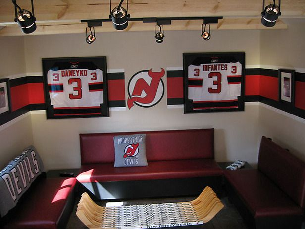 Man Cave Themes Man Cave Hockey Themed Room Dads Room