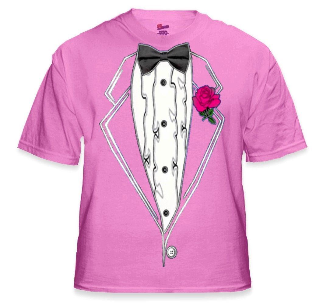 Tuxedo TShirts - Kids Ruffled Pink Tuxedo T-Shirt With Pink Rose ...