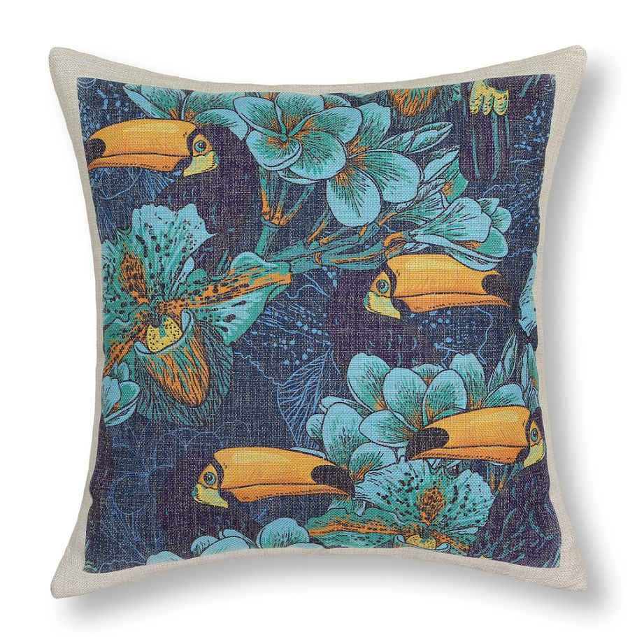 Euphoria floral cushion covers sofa bed throw pillow cases tropical