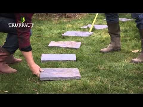 comment poser des pas japonais jardinerie truffaut tv youtube dekor garden backyard. Black Bedroom Furniture Sets. Home Design Ideas