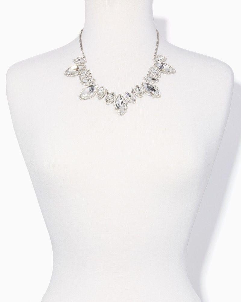 Charming charlie garnished marquise bib necklace setgarnished
