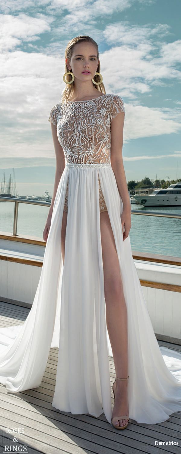 Designer beach wedding dresses  Demetrios Destination Beach Wedding Dresses   dress  Pinterest