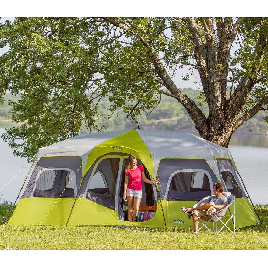 Features - Product Overview - Instant 2 minute setup - Sleeps 12 people - Fits & 12 Person Instant Cabin Tent 18u0027 x 10u0027 | Cabin tent Tents and Camping