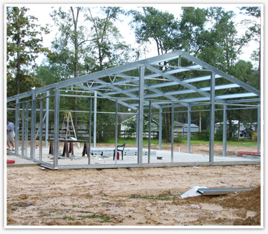 A Do It Yourself Steel Framed House Intrigues Me Steel Frame House Steel House Steel Building Homes