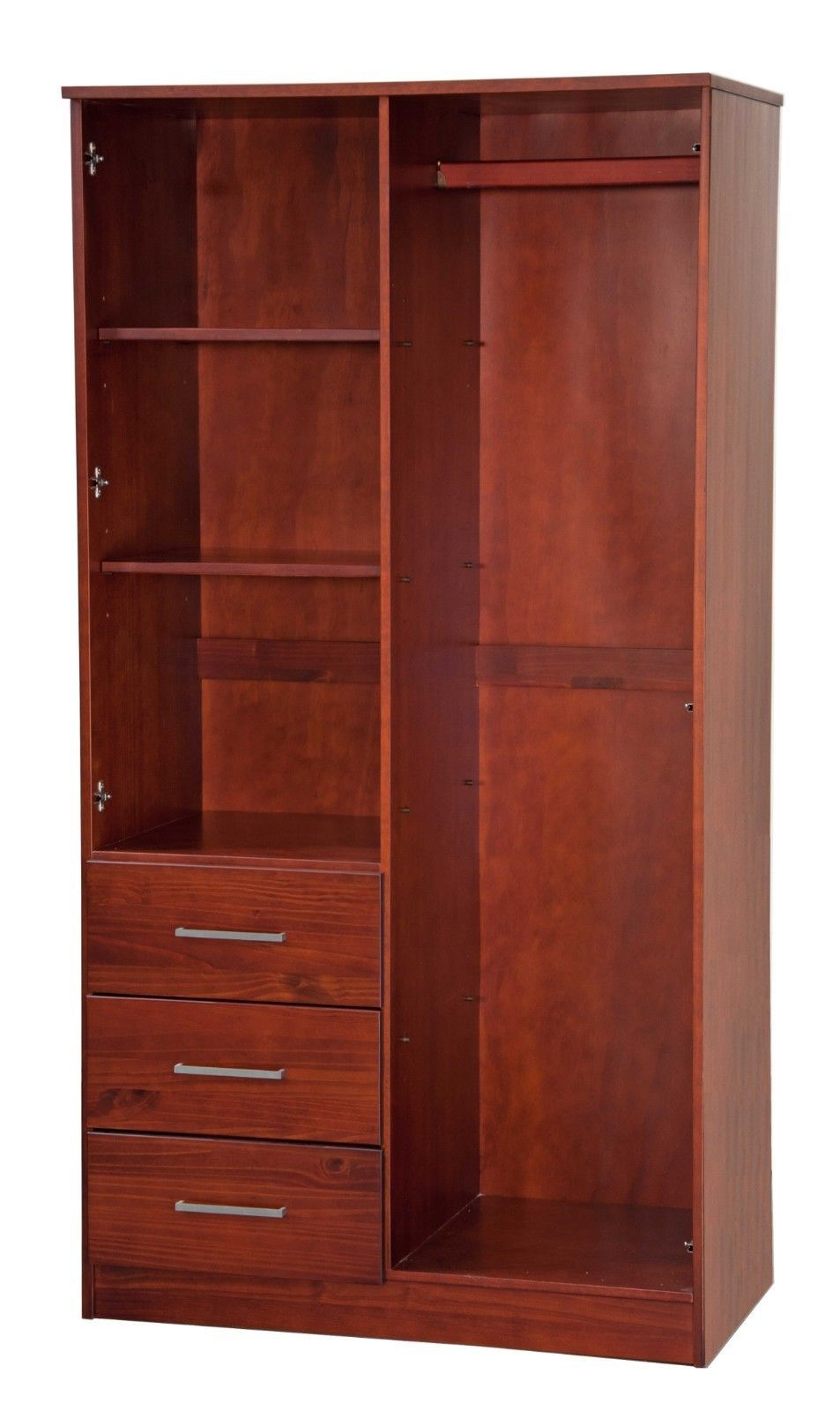 Metro 2 Door Wardrobe Armoire Closet With Mirror And 3 Drawers By Palace Imports Wardrobe Armoire Closet Mirror Bedroom Armoire