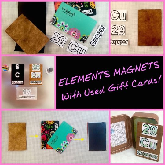 Periodic table of elements magnets with used gift cards great easy periodic table of elements magnets with used gift cards great easy activity for children great urtaz Images