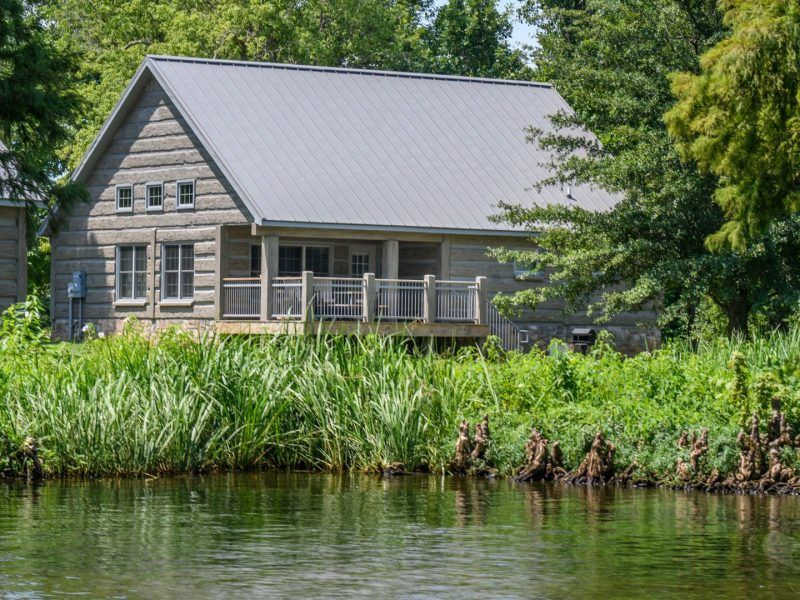 Reelfoot Lake State Park Tennessee Concrete Log Cabin
