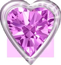 Pink Diamond Heart Clipart Love Heart Images Clip Art Freebies Heart Clip Art