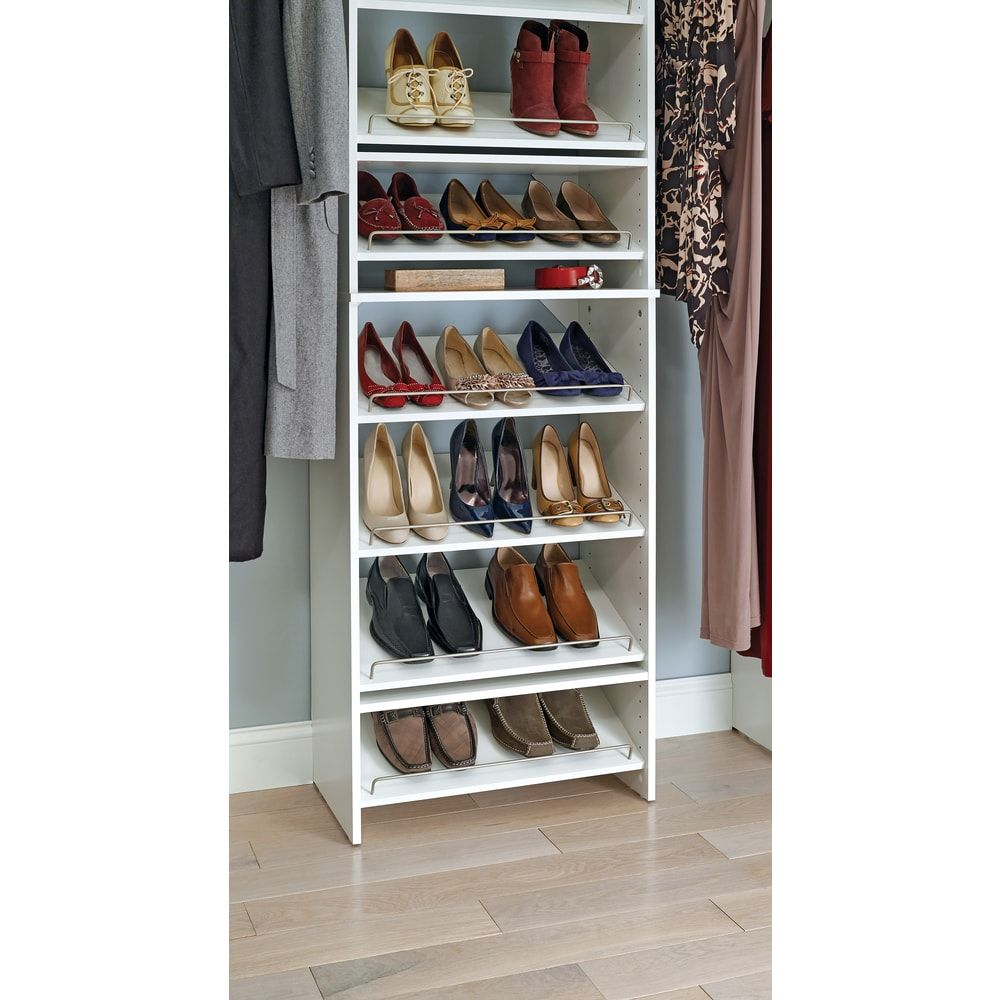 Closetmaid suitesymphony 25inch wide angled shoe shelves
