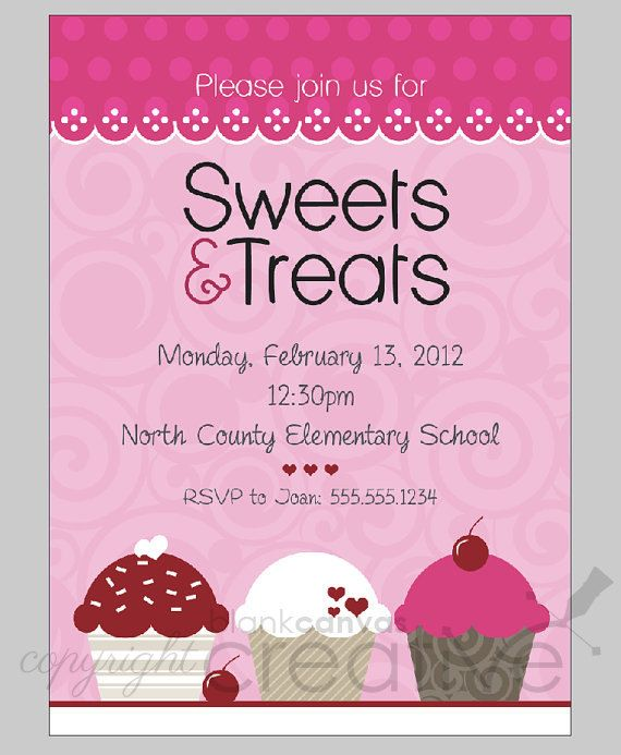 Party Invitation Template Cupcakes Marketing Pinterest Party - Dessert party invitation template