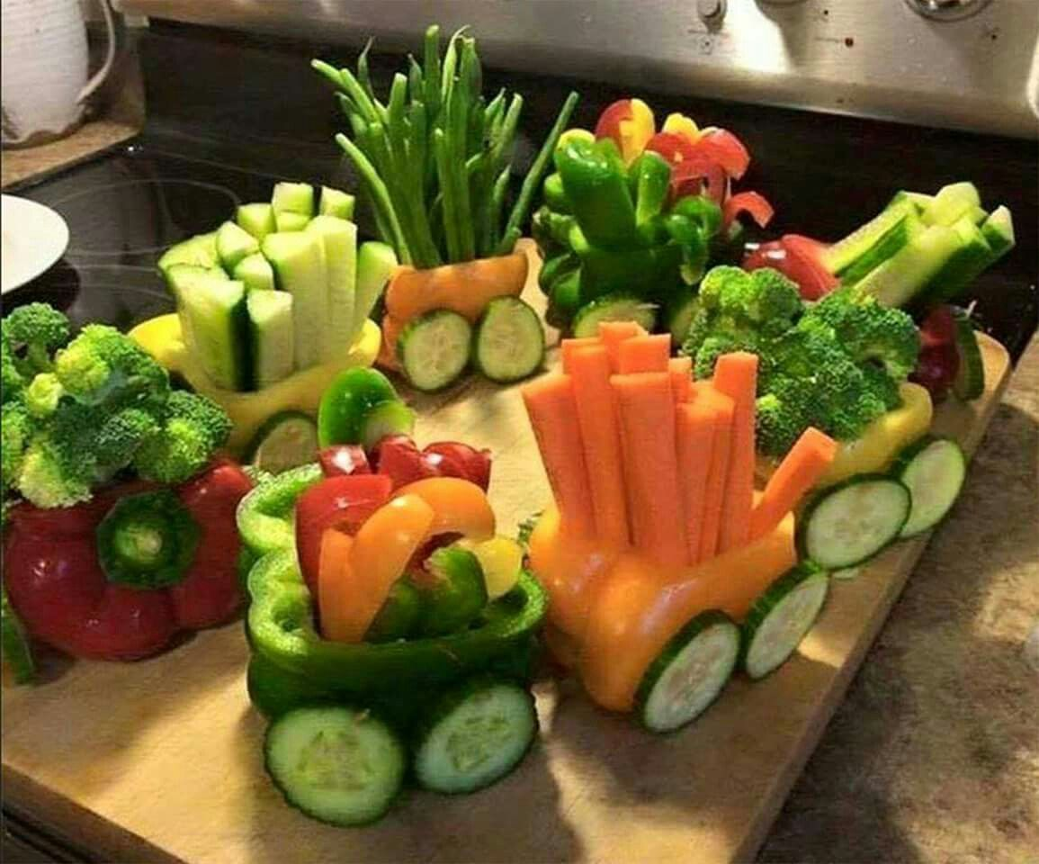 vegetable train planes trains automobiles party pinterest food snacks and food ideas. Black Bedroom Furniture Sets. Home Design Ideas