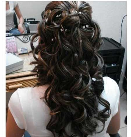 Half Tied  Up  Formal Curly Hairstyle  Curly Hairstyles