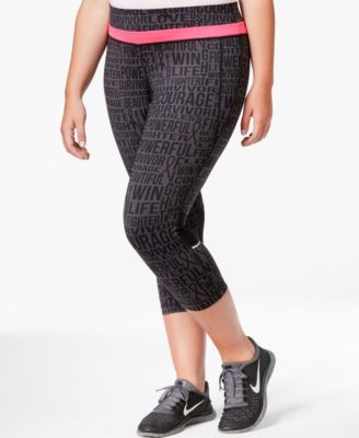 ab7b21da63289 Ideology Plus Size Breast Cancer Awareness Graphic Leggings, Only at Macy's  #macys #southbaygalleria #hope #pink