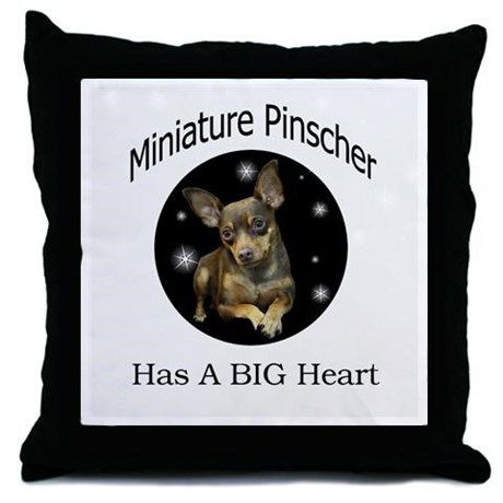 Miniature Pinscher Throw Pillow