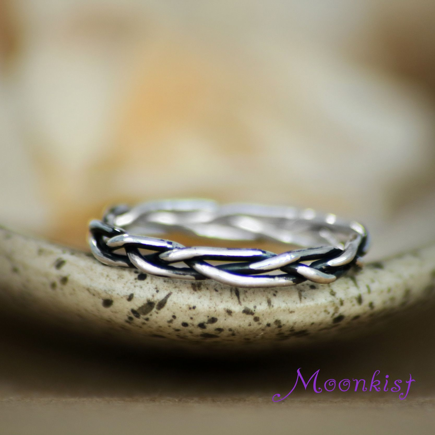Endless Knot Celtic Silver Minimalist Unisex Braided
