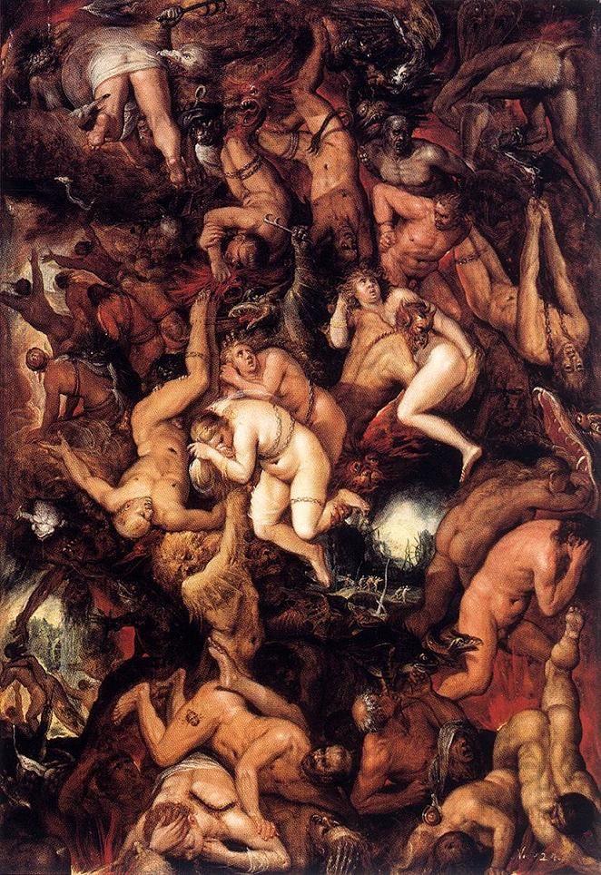 Los malditos siendo castigados en el infierno. Frans Francken II ...