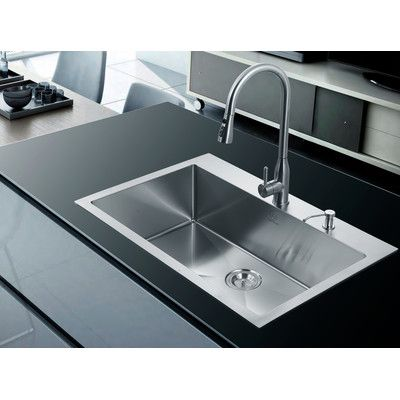 Single Basin Kitchen Sink 33 X 22 Staccato 33 x 22 x 8 516 top mount double equal bowl kitchen stufurhome single basin overmount kitchen sink a spacious and stunning design makes the stufurhome single basin overmount kitchen sink a perfect workwithnaturefo