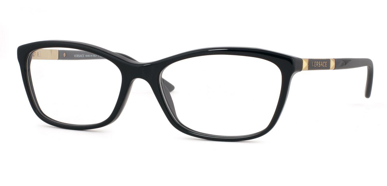 73e86166ac Versace Women s VE 3191 GB1 Black Plastic 54-millimeter Cat-eye Eyeglasses