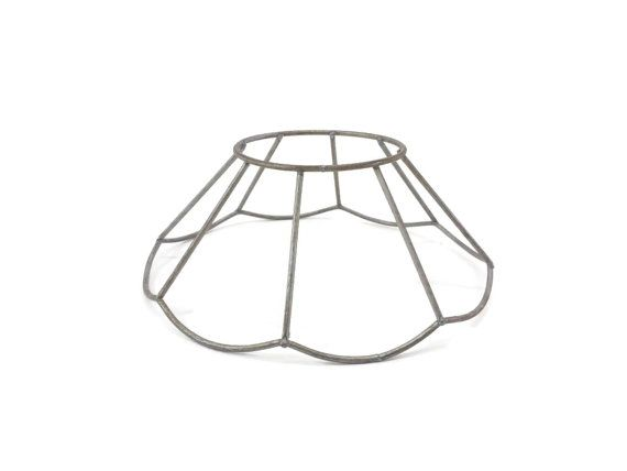Flower lampshade frame vintage metal lamp shade frame wire flower lampshade frame vintage metal lamp shade frame wire lampshade by eclecticembrace greentooth Image collections