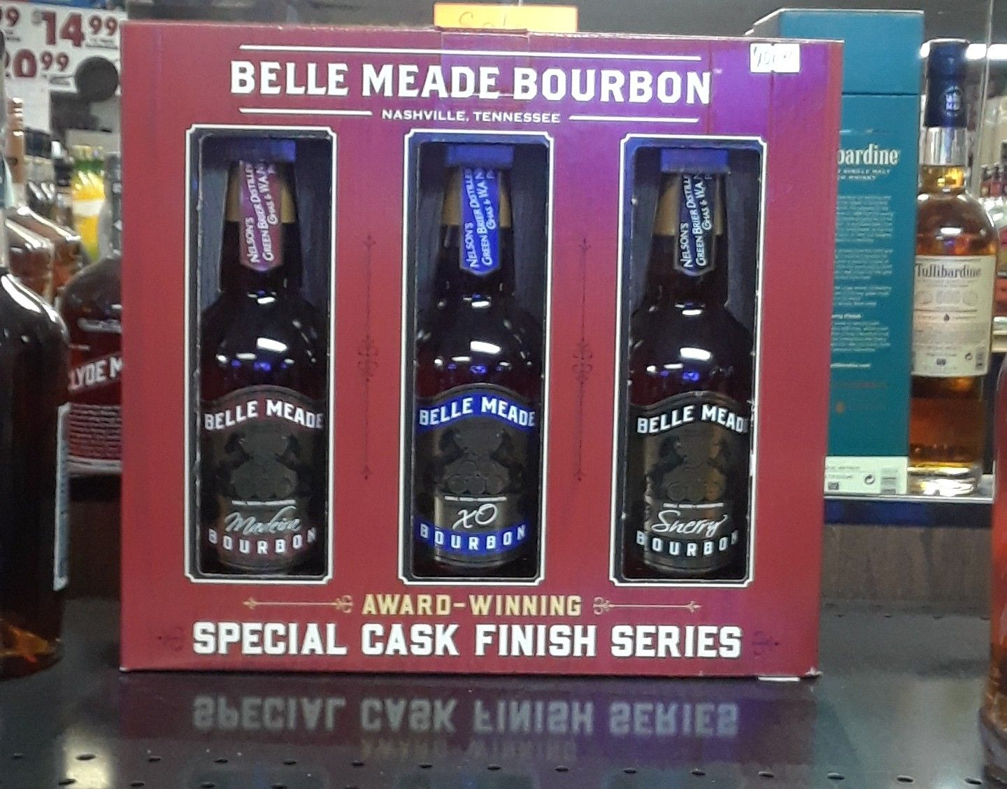 Belle Meade Ticket Price 110 00 For 3 Fifths First Burboun Made In Tennessee Collectors Edition Price Slashed Down To 55 00 For Set At Telanas This Week On Meade