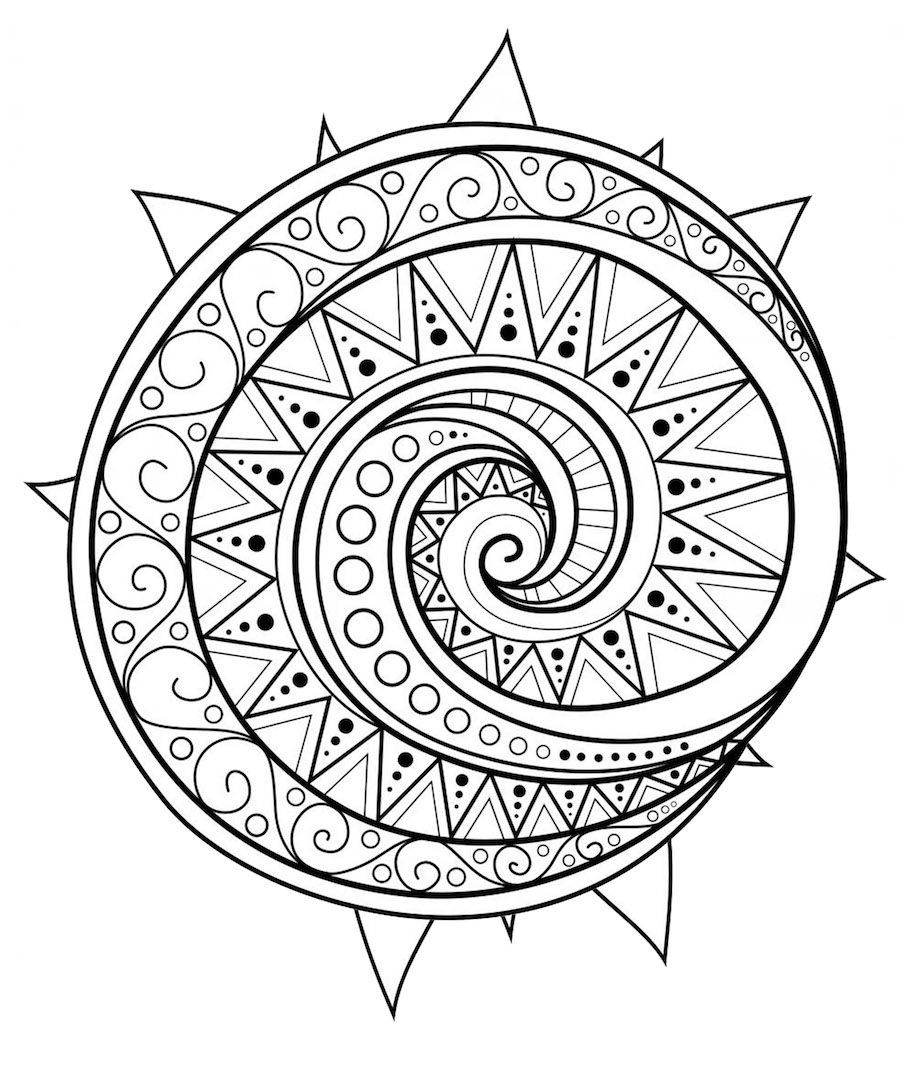 Circular mandala doodle | To Color - Mandalas | Pinterest | Stift ...
