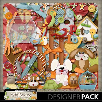 I_love_my_pet_03 Digital scrapbooking software