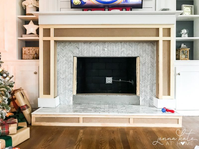 how to build a fireplace surround fireplace fireplace surrounds rh pinterest com
