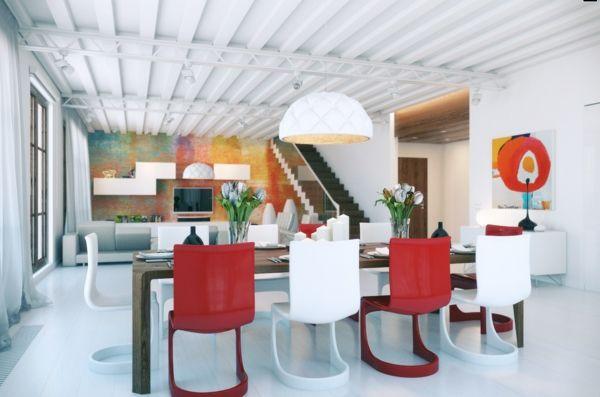 Einmaliges Esszimmer mit neuen Stühlen - esszimmer esstisch holz ...