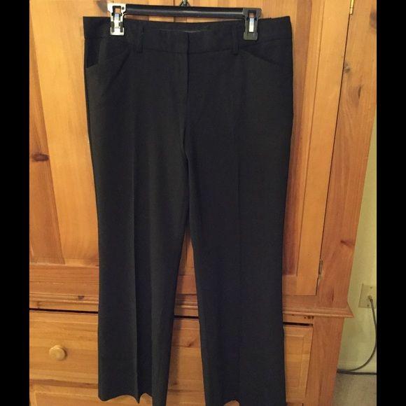 Express black dress slacks Black dress slacks from Express. Editor pant, size 8 short Express Pants Trousers