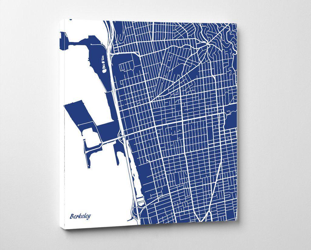 Berkeley, California City Street Map Print Custom Wall Map ...