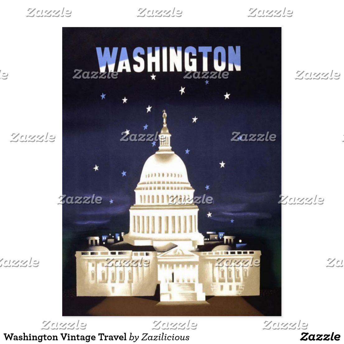Washington Vintage Travel Postcard