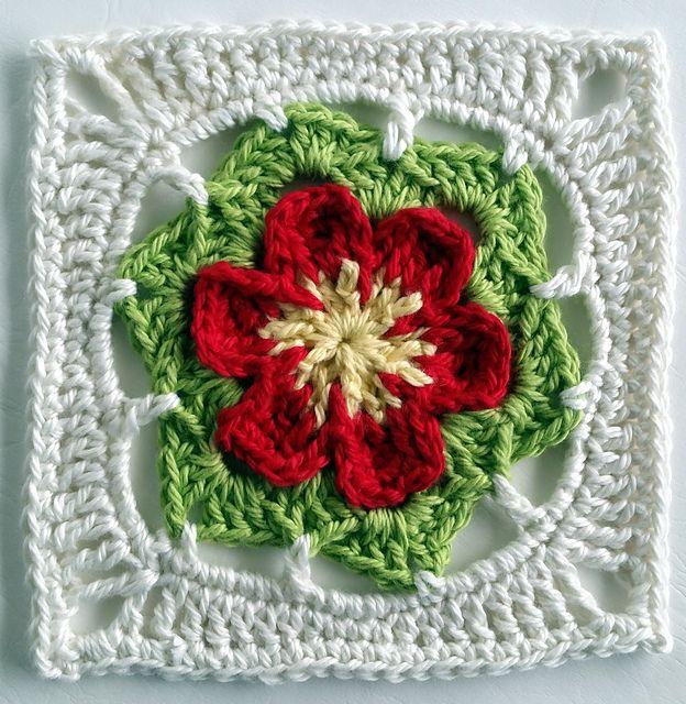 Ergahandmade Crochet Flower Motif Free Pattern Ruth Mills