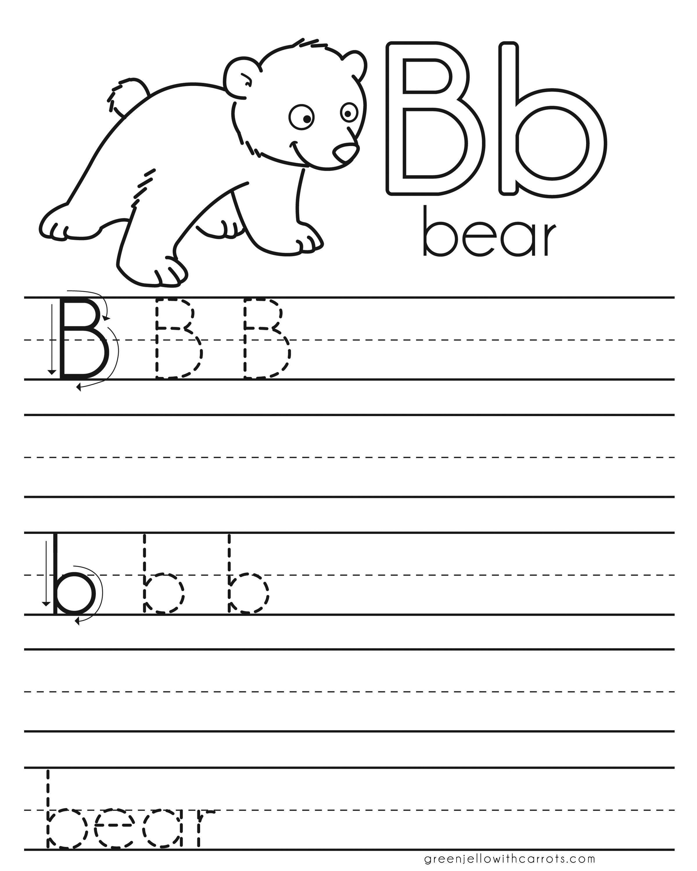 Letter Practice B Worksheets